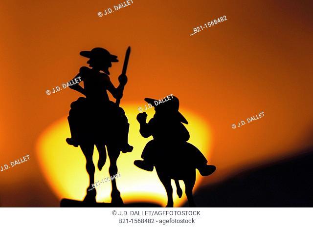 Don Quixote and Sancho Panza, Ciudad Real province, Castilla-La Mancha, Spain
