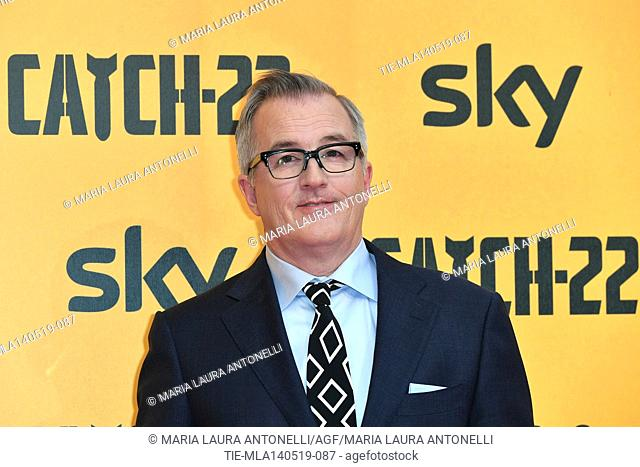 Luke Davies screenplayer and executive producer during the Red carpet for the Premiere of film tv Catch-22, Rome, ITALY-13-05-2019