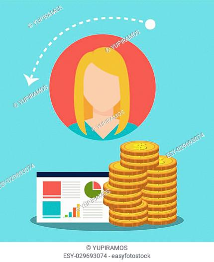 Business people working, vector illustration graphic design