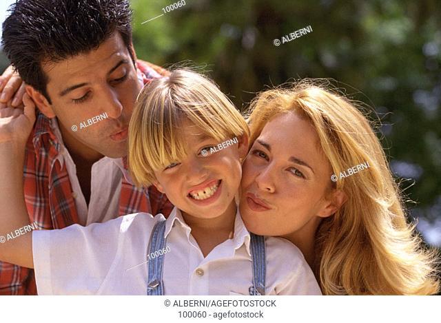 Portrait of parents and son