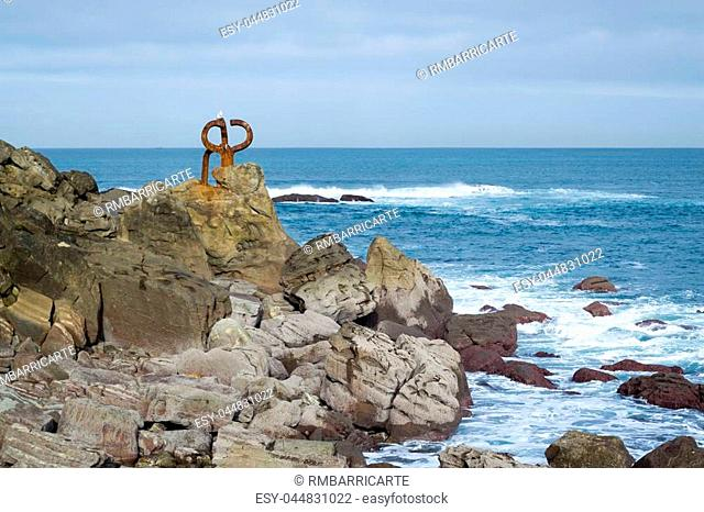 The comb of the wind is one of the most celebrated Basque sculpture by Chillida