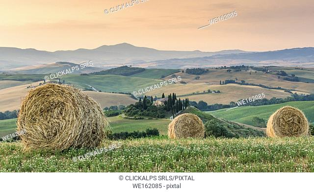 Val d'Orcia landscape, San Quirico, Tuscany, Italy