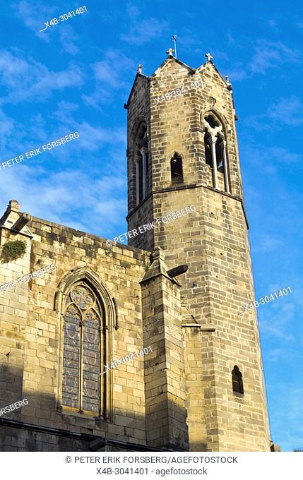 Capella de Santa Agueda, Capella de Santa Agata, Chapel Santa Agada, St Agnes, Placa del Rei, Barri Gotic, Barcelona, Catalonia, Spain
