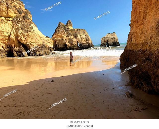 Three Brothers beach, Alvor, Lagos, Algarve, Portugal, Europe