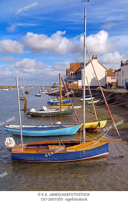 The East Quay at Wells Harbour Norfolk UK Autumn