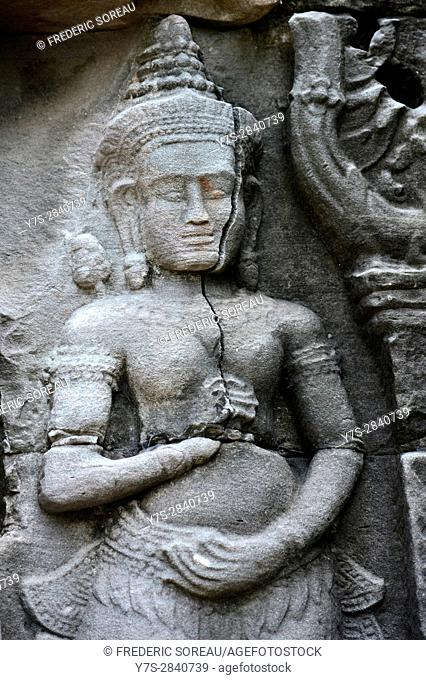 Banteay Kdei temple,Angkor,Siem Reap,Cambodia,Indochina,Southeast Asia,Asia