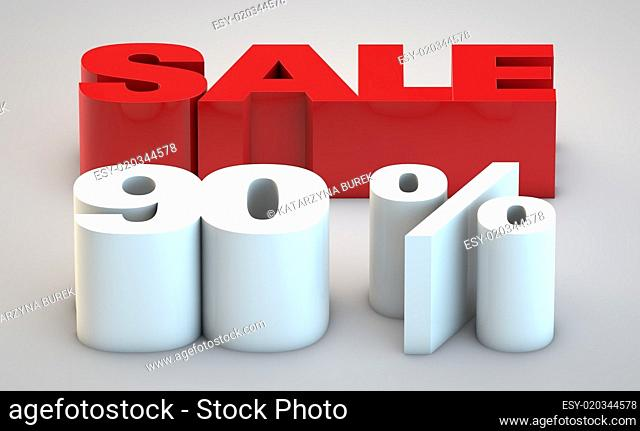 Sale - price reduction of 90%