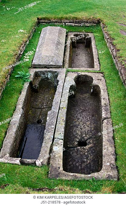 Chapter house graves. St. Andrews. Scotland