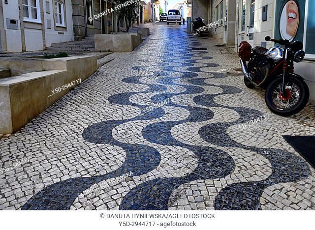 Rua Conselheiro Joaquim Machado, Calçada portuguesa, historic part of Lagos city, Lagos, Algarve, Portugal, Europe