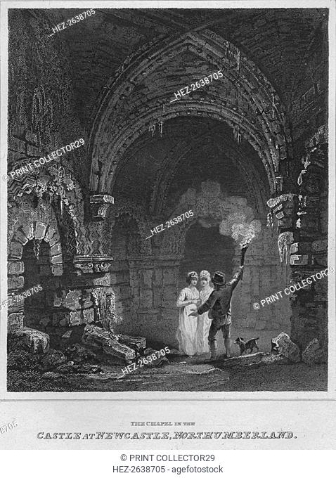 'The Chapel in the Castle at Newcastle, Northumberland', 1814. Artist: John Greig