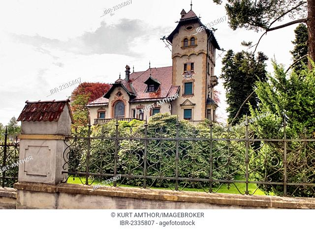 Villa Haemmerle, built circa 1890 by architect Julius Rhomberg and builder J.A. Albrich, feudal old German style, with references to the German Renaissance