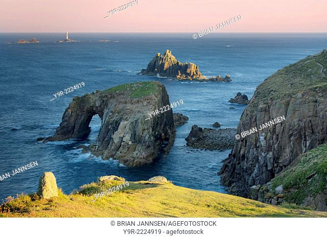Early morning over Lands End, Cornwall, England