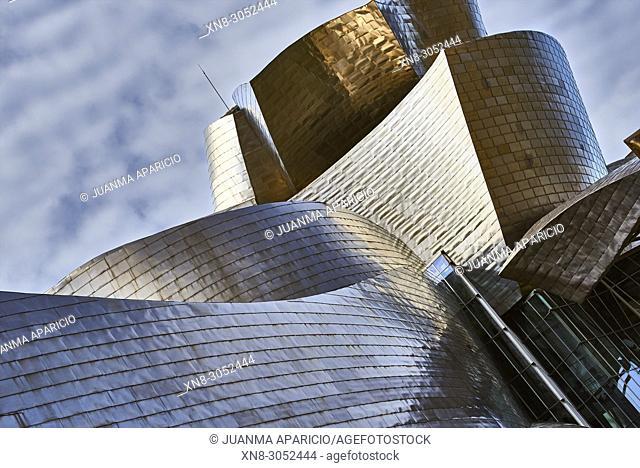 Guggenheim Museum, Bilbao, Biscay, Basque Country, Euskadi, Euskal Herria, Spain, Europe