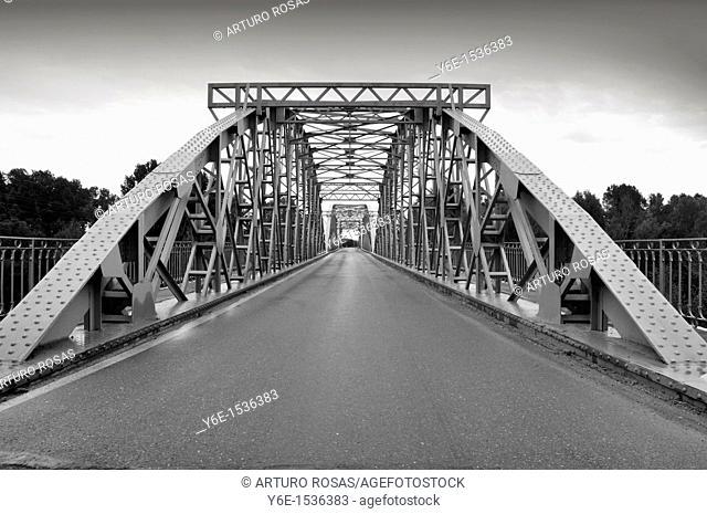 Douro River Bridge in Toro, Zamora  Spain