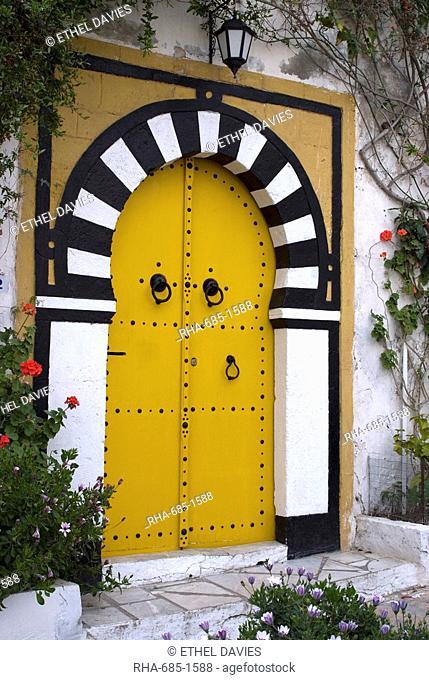 Door, Sidi Bou Said, near Tunis, Tunisia, North Africa, Africa