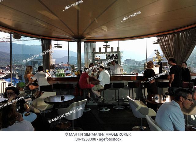 Cafe restaurant lichtblick on the 7th Floor of City Hall, Innsbruck, Tyrol, Austria, Europe