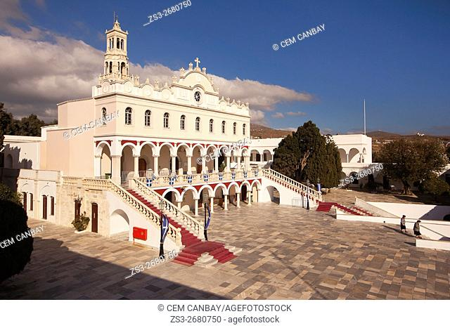 View to the Panagia Evangelistria-Our Lady of Tinos church, Hora, Tinos, Cyclades Islands, Greek Islands, Greece, Europe