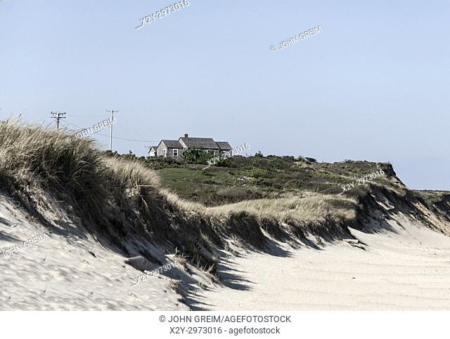 Oceanfront beach cottage, Eastham, Cape Cod, Massachusetts, USA