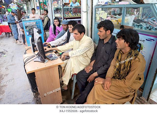 music and movies salesmen in Kunduz, Afghanistan