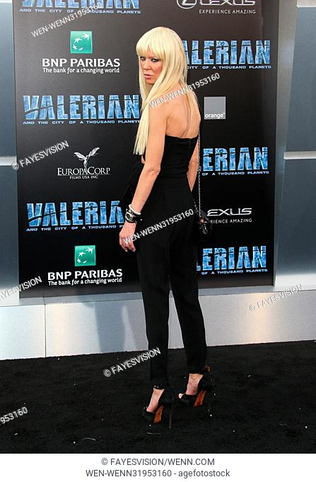 World premiere of 'Valerian and the City of a Thousand Planets' at the TCL Chinese Theatre - Arrivals Featuring: Tara Reid Where: Los Angeles, California