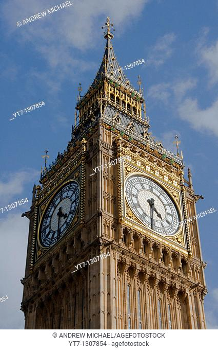 Houses of Parliament - clock tower, London, England