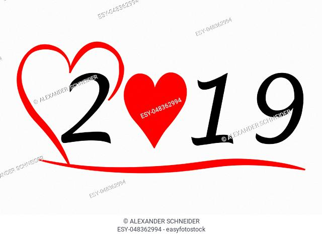 Year 2019 with Heart