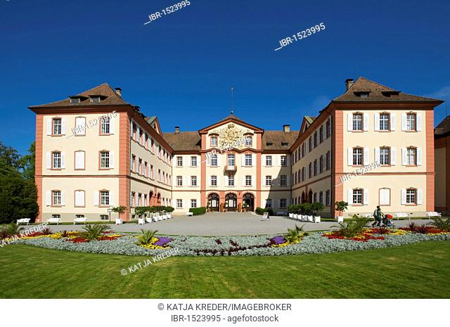 Schloss Mainau castle on Mainau flowering island, Lake Constance, Baden-Wuerttemberg, Germany, Europe