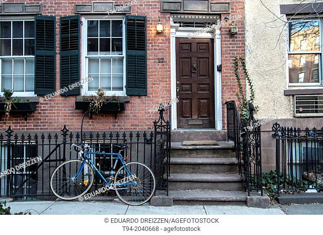 Houses in Greenwich Village, Manhattan, New York City