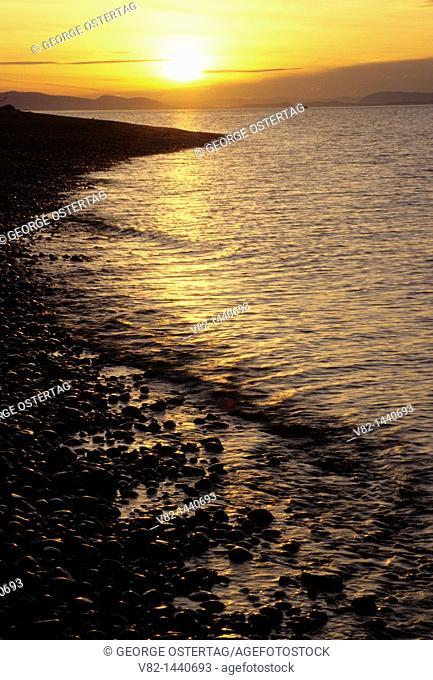 Semiahmoo Bay shoreline, Semiahmoo County Park, WA