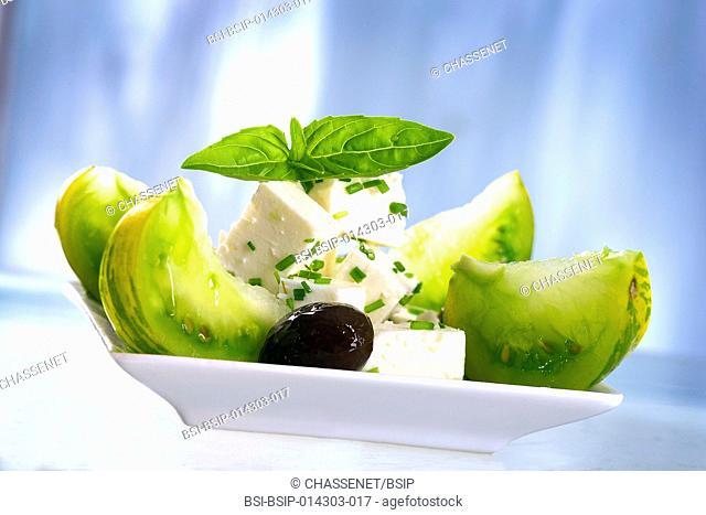 feta and green tomatoes