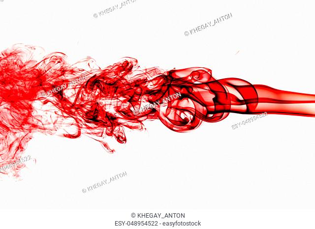 Red Smoke abstract background. Beautiful background