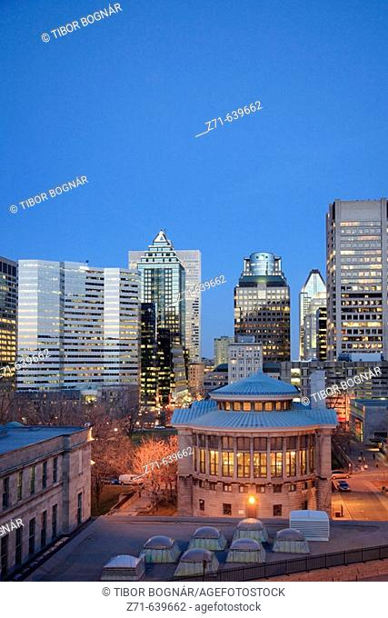 Canada, Montreal, downtown skyline