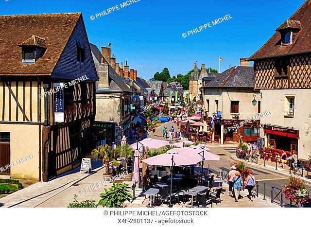 France, Cher (18), Sologne, Aubigny-sur-Nere, the Jacques Coeur road, City of Stuart
