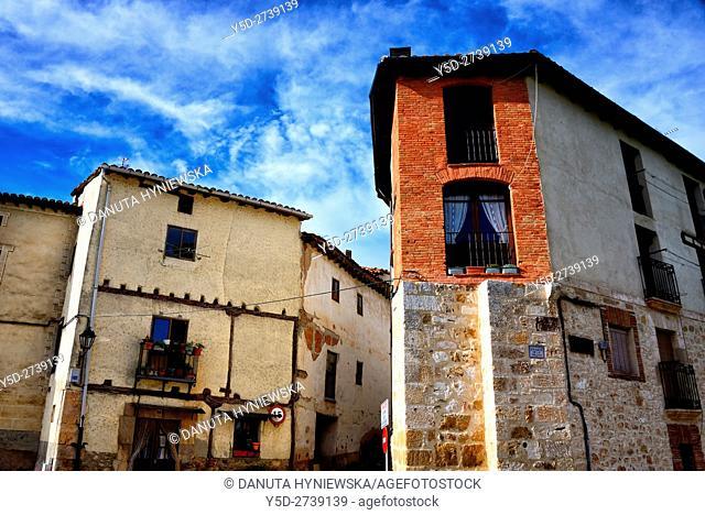 Old town of Covarrubias, Ruta del Cid, Burgos province, Castilla-León, Castile and León, Castilla y Leon, Spain, Europe