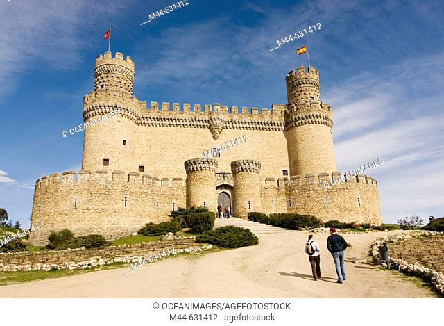 Castle. Manzanares el Real. Madrid province. Spain