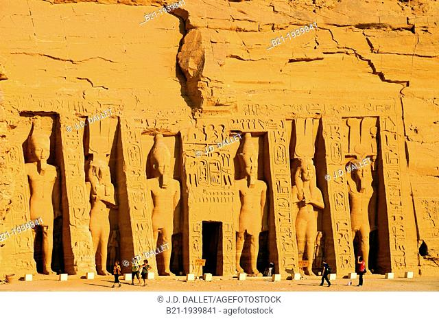 Egypt- The Abu Simbel temples temples in Abu Simbel (??? ???? in Arabic) in Nubia, southern Egypt. They are situated on the western bank of Lake Nasser