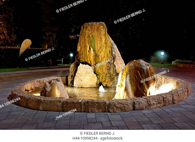thermal, wells, fountains, evening