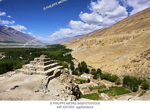 Tadjikistan, Asie centrale, Gorno Badakhshan, Haut Badakhshan, le Pamir, le stupa bouddhiste de Vrang dans la vallée du Wakhan