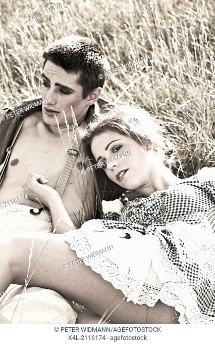 young, beautiful couple, stylish (model-released)