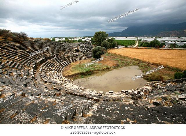 Roman amphitheatre at Letoon, Antalya, Turkey