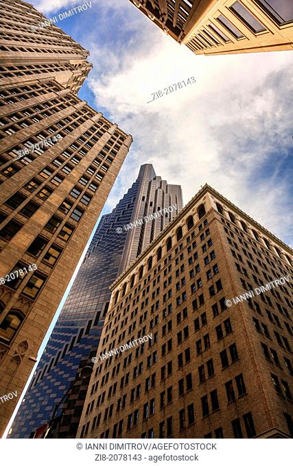 Skyscrapers in the financial district,San Francisco,California,USA