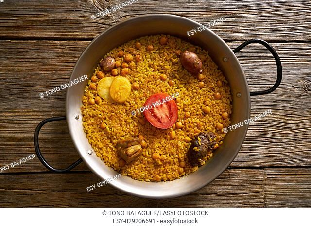 Baked rice Paella recipe for two from Spain