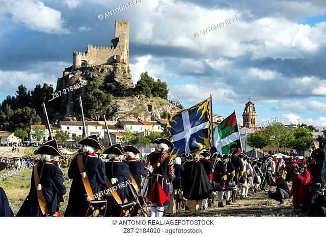 International reenactment of the Battle of Almansa, Albacete province, Castilla-La Mancha, Spain
