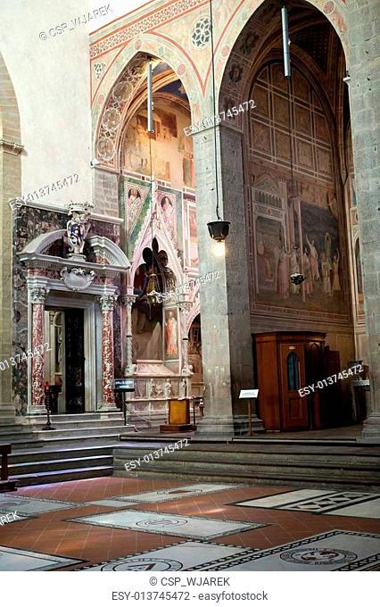 Florence - Basilica of Santa Croce. Baroncelli Chapel