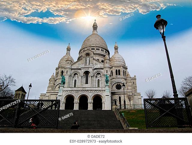 The Basilica of the Sacred Heart on Montmartre hill