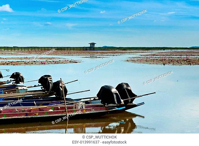 boat on a local lagoon