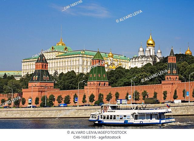 Moscow River  The Kremlin, Moscow  Russia