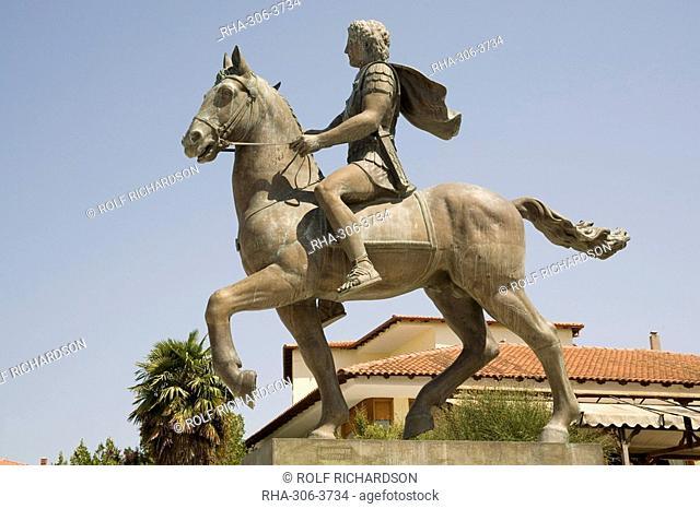 Alexander the Great statue, Pella, Macedonia, Greece, Europe