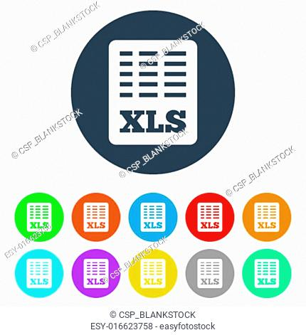 Excel file document icon Stock Photos and Images | age fotostock