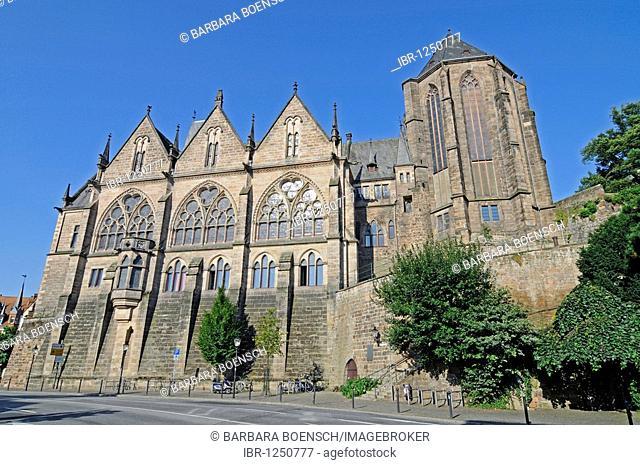 Philipps University, old university, Marburg, Hesse, Germany, Europe